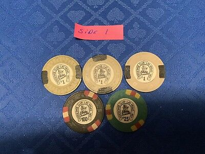 Horseshoe Club Poker Chip Lot