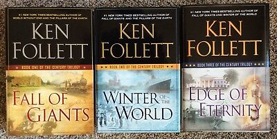 Lot of 3 Books by Ken Follett  Hardcover 1st Edition Complete Century Trilogy