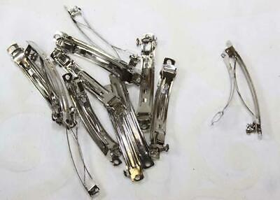 2-3/4 Inch Silver French Barrette Hair Clips (100 Pieces)