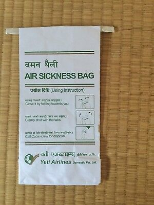 Yeti Airlines Disposable Barf Bag