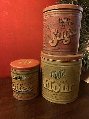 Ballonoff metal kitchen canisters Flour Sugar Coffee