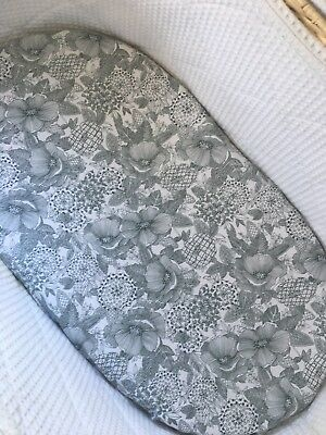 Handmade Moses Basket Fitted Sheet Olive
