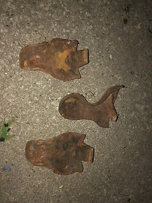 Lot of 3 Non-Matching Antique Vintage Cast Iron Ball Claw Feet
