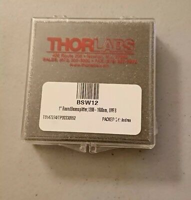 "Thorlabs BSW12 1"" 50:50 UVFS Plate Beamsplitter"