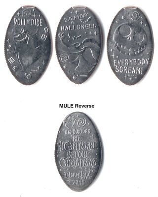 *Quarters* Disneyland - Nightmare Before Christmas 2018 (3) made with unc coins