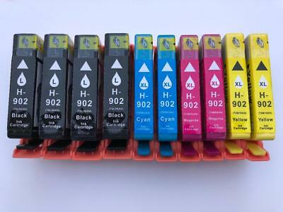 10PK Ink Cartridges 902L 902XL for HP 6950 6951 6954 6958 6960 6962 6975 Printer