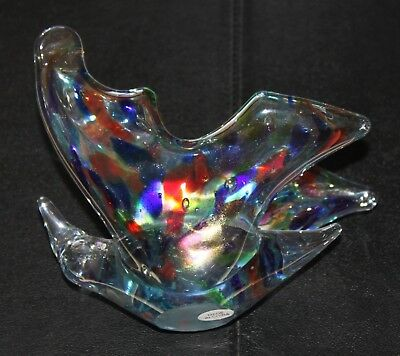 Hand Blown Art Glass Butterfly Figurine - Free Priority Shipping!