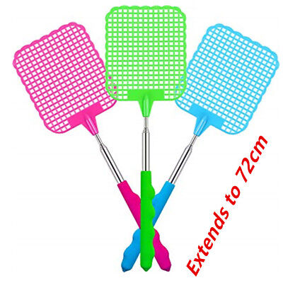 Swatter Flyswatter Bug Fly House Extendable to 72cm Racket Office Pest Control