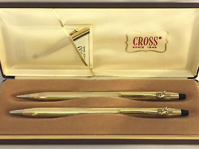 CROSS RCA NIPPER #2, 10k GOLD CLASSIC CENTURY BALLPOINT PEN & 0.5mm PENCIL #4502