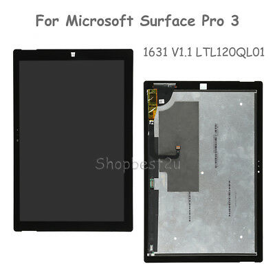 """12"""" For Microsoft Surface Pro 3 1631 V1.1 LCD Touch Screen Digitizer Assembly"""