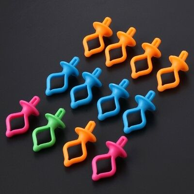 12 Pieces Assorted Color Silicone Thread Clips Bobbin Clips Holders Clamps Tool