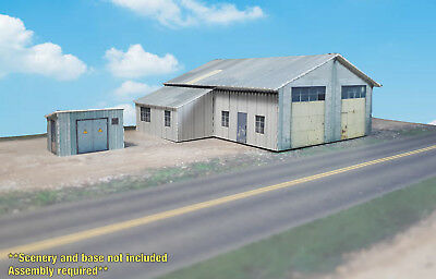 N Scale Building - Cover Stock(paper) Pre-Cut Industrial Shed - SP5-N