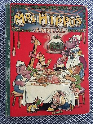 MRS HIPPO'S ANNUAL 1928 - The Playbox - Fleetwood House - Vintage Hardcover