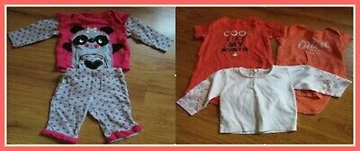 Lot of 3 Baby Girl SIZE 0-3 MONTHS OUTFITS TOP AND BOTTOM (N)