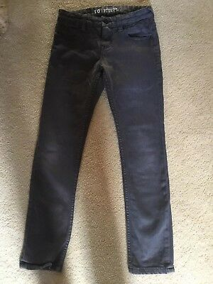 Boys Quicksilver dark grey jeans size 10, Skinny Fit