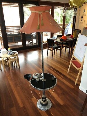 Art Deco Style Standard Lamp - Smokers Table