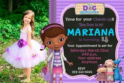 DOC MCSTUFFINS Birthday Party Invitation Personalized Custom YOU PRINT