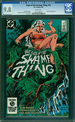 Saga of the Swamp Thing #25 CGC (not CBCS) NM/MT 9.8 Retconned Constantine Cameo