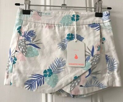 Country Road Girls Bird Skort Size 5 Years RRP$49.95