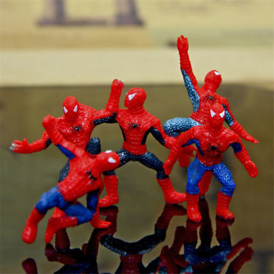 6pcs Mini Spider-Man Homecoming Spiderman Action Figure Decoration Toy Kids Gift