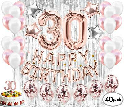 30th Birthday Decorations for Her| 30th Birthday Party Supplies| Party