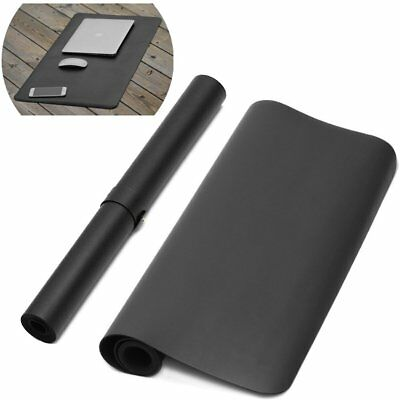 "35"" Extra Large Leather Desk Blotter Pad, Extended Mouse and Keyboard Mat -"