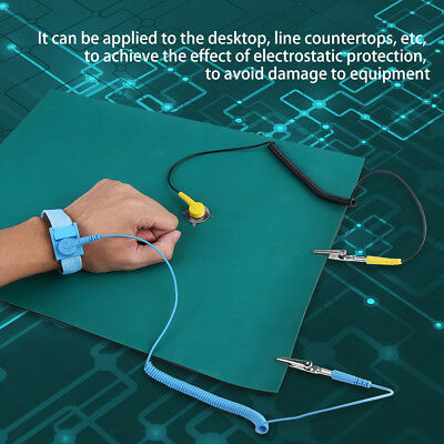 Anti-Static Electrostatic Discharge Wrist Strap Ground Wire Mat