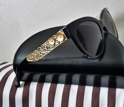 c4392ee9449 Dolce   Gabbana Dg 4211 501 t3 Polarized Sunglasses Black Gold New No Case