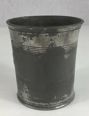 Antique Pewter 1/2 Pint Measure C.1800. 9cm In Height