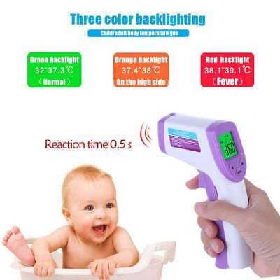 Non-Contact Digital Ir Infrared Thermometer Forehead Body Temperature Meter Pour