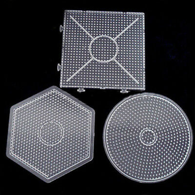 Clear Square Hexagon Round Large Pegboards Board For Hama Fuse Beads Toy Pour
