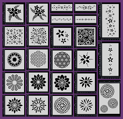 Stencils - Flowers - Collection One