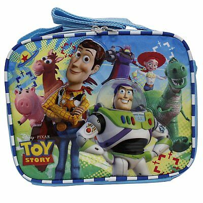 Disney Toy Story New Light Blue Insulated Lunch Box Bag- Buzz Lightyear  Woody
