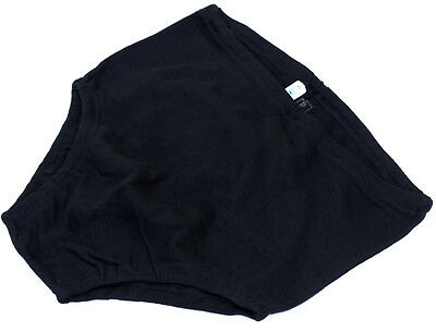 1960s Cotton Swimming Briefs Black Austrian Army Vintage Mens Retro Trunks New
