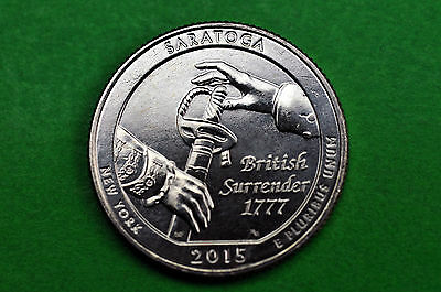 2015-D   BU  Mint State  (Saratoga National Park ) US National Park Quarter