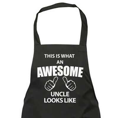 This Is What An Awesome Uncle Looks Like Black Apron Novelty Gift Chef House War