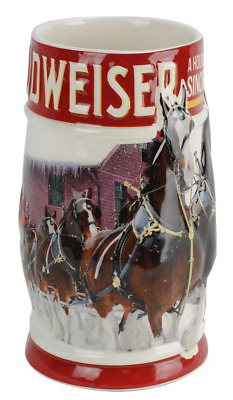 Budweiser 2018 Clydesdales Holiday Stein, 31-Ounce Free Shipping