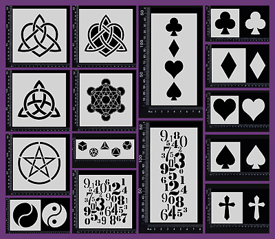 Stencils - Numbers and Symbols