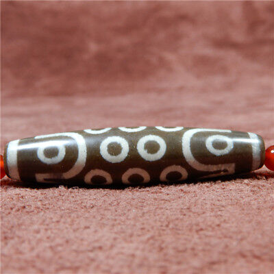 band certificate tibet dzi bead old agate 21 eyes amulet gzi antique A0100