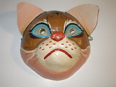 Vintage Chinese Paper Mache Mask Hand Painted People's Republic Of China.