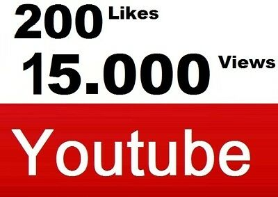 15.000 Views u. 200 Daumen hoch YouTub+