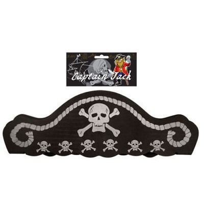 Boy / Girl Pirate Foam Skull Hat Fancy Dress  10 sets Job Lot