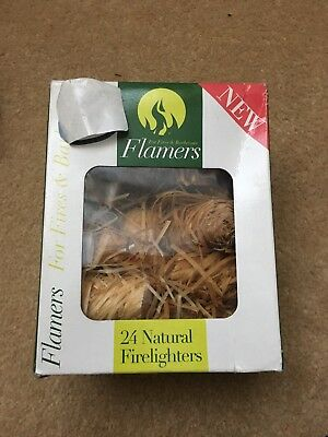 Flamers 24 Natural Firelighters for Stoves and Barbecues BBQ …