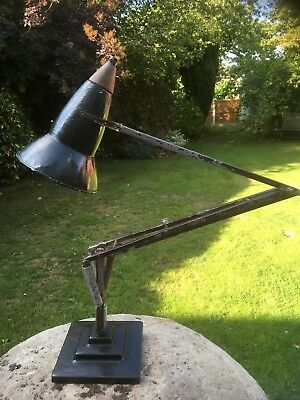 Rare Three Step Herbert Terry Anglepoise 1227 Vintage Desk Lamp