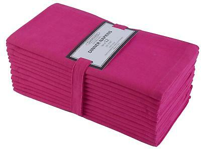 Cloth Napkin in Solid Cotton Fabric- Magenta Color, Oversized 20x20, Wedding