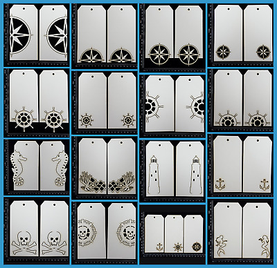 White Chipboard Embellishments - Tags - Collection One