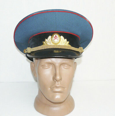 Vintage Russian Soviet Army Officer Hat Cap Badge Military Uniform M Size 56