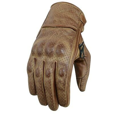 Leather Gloves Cafe Racer Gloves Mens Motorcycle Leather Gloves Biker Gloves New