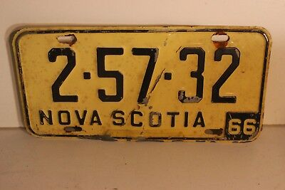 RARE 1966 Nova Scotia Canada License Plate