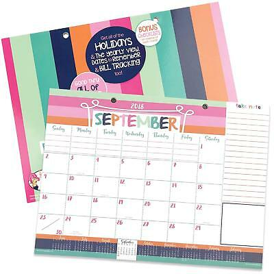 2018-2019 Monthly Desk Pad or Wall Calendar, Dated This Month - December 2019,